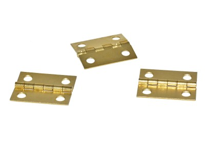 Brass Box Hinges 1-1/2'' (50 pcs)