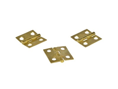 Brass Box Hinges 1'' x 1'' (50 pcs)