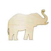 Laser Cut Plywood #1 Elephants (5 Pieces)