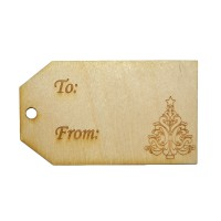 3-1/2'' Christmas / Holiday Gift Tags  w/ Tree engraving (Lot of 10)