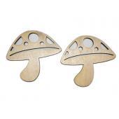 Plywood Mushrooms (Lot of 5)