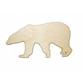Laser Cut Plywood Polar Bears (5 Pieces)