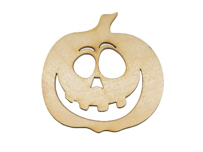 Happy Jack-O'-Lantern Plywood Cut Out (Lot of 10)