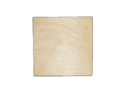 3'' Plywood Squares  w/rounded Corners  (10 pcs)