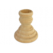 "2-1/4"" X 2-5/8"" Wooden Candlesticks (5 pcs)"