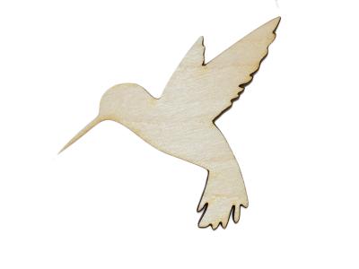 Laser Cut Plywood Hummingbirds (5 Pieces)