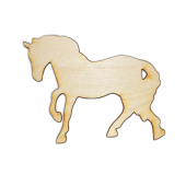 Laser Cut Plywood Horses (5 Pieces)
