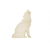 Laser Cut Plywood Howling Wolf (5 Pieces)