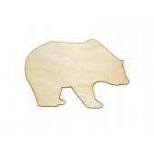Laser Cut Plywood Grizzly Bears (5 Pieces)