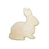 Laser Cut Plywood Bunny Rabbits (5 Pieces)