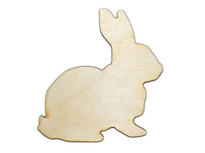 Laser Cut Plywood Bunny Rabbits (5 Pieces)