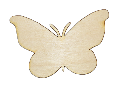 Laser Cut Plywood #2 Butterflies (5 Pieces)
