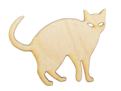Halloween Cat Plywood Cut Out (Lot of 10)