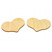 Country Hearts Cutout 1-3/8'' x 1'' (10 Pieces)
