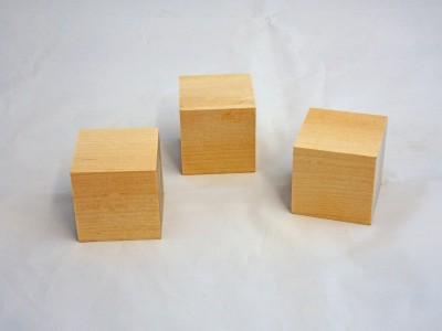 1/2'' - Wooden Block Cubes - 50 pieces
