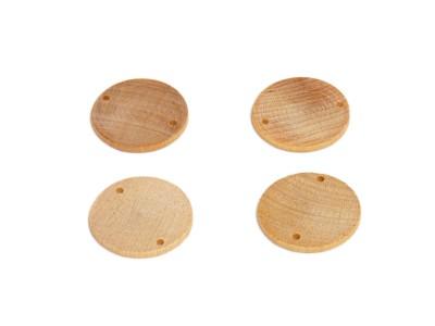Wooden Discs 1-1/2'' w/ Two 1/8'' Holes (50 pcs)