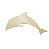 Laser Cut Plywood Dolphins (5 Pieces)