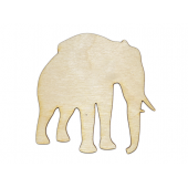 Laser Cut Plywood #2 Elephants (5 Pieces)