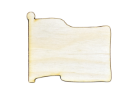 Flag Shape Plywood Cut Out (Lot of 10)