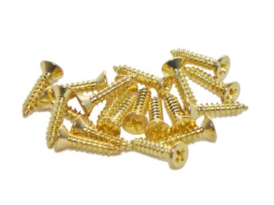 #4 x 1/2'' Brass Flathead Wood Screws (100 pcs)