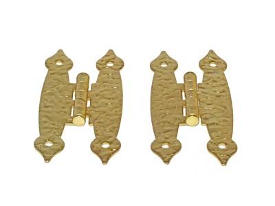 3-1/2'' Polished Brass Hammercraft Hinge (50 pcs)