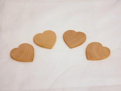 1'' Wooden Hearts (50 pcs)