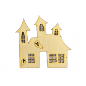 Haunted House w/Ghost Plywood Cut Out (Lot of 10)