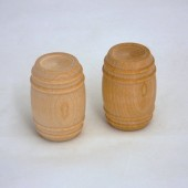 Wooden Pickle Barrels 1-1/8'' x 1-5/8'' (50 pcs)