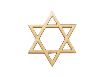3'' Laser Cut Star of David (5 pcs)
