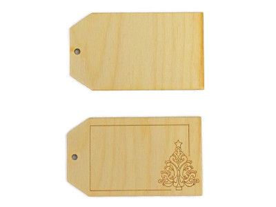 Christmas / Holiday Gift Tags  w/ Tree engraving (Lot of 10)