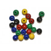 Variety Pack of Round Beads - 1/2'' (100 pcs)